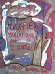Carlo Domeniconi, Pork pie variations sheet music cover