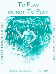 Carlo Domeniconi, To play or not to play sheet music cover