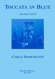 Carlo Domeniconi, Toccata in blue sheet music cover